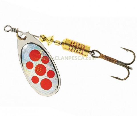 COLONEL Z SPINNER - SILVER RED SPOTS 3D