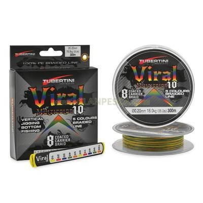 BRAIDED LINE VIRAL MULTICOLOR 10 MT. 300