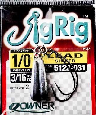 AMO OWNER 5122 JIG RIG W-LEAD SINKER