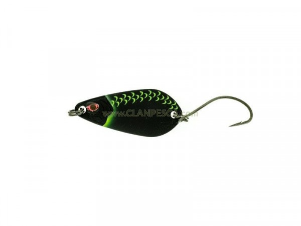 MOLIX TROUT SPOON 3.5 GR-Mat Black Stripe Scales